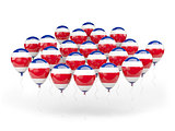 Balloons with flag of costa rica