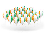 Balloons with flag of cote d'Ivoire