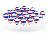Balloons with flag of cuba