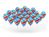 Balloons with flag of democratic republic of the congo