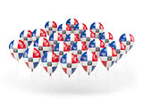Balloons with flag of dominican republic