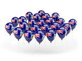 Balloons with flag of falkland islands