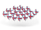 Balloons with flag of faroe islands
