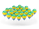Balloons with flag of gabon