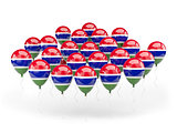 Balloons with flag of gambia
