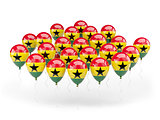 Balloons with flag of ghana