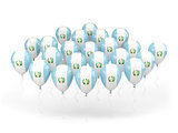 Balloons with flag of guatemala