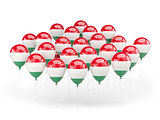 Balloons with flag of hungary