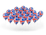 Balloons with flag of iceland