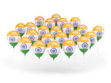 Balloons with flag of india
