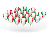 Balloons with flag of italy