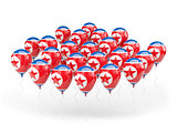 Balloons with flag of north korea