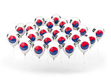 Balloons with flag of south korea