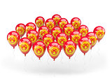 Balloons with flag of kyrgyzstan
