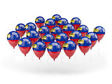 Balloons with flag of liechtenstein