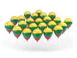 Balloons with flag of lithuania