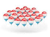 Balloons with flag of luxembourg