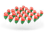 Balloons with flag of madagascar