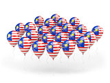Balloons with flag of malaysia