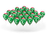 Balloons with flag of maldives