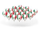 Balloons with flag of mexico