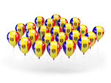 Balloons with flag of moldova