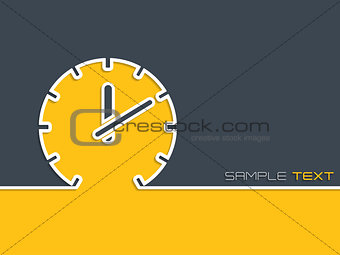 Advertising background with clock silhouette