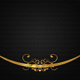 Dark background with gold lace