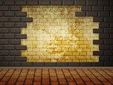 Grunge brick wall interior