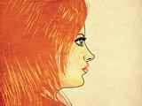 Grunge girl with blone hair