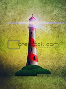 Grunge lighthouse