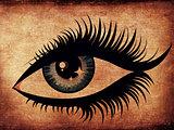 Grunge woman eye
