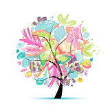 Abstract tree floral for your design