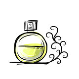 Sketch of perfume bottle for your design