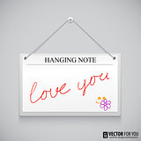 Hanging note board