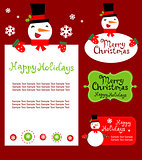 Templates for Christmas greeting card, gift tag, label or sticker.