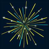Firework background bark blue color