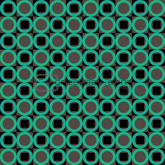 Green abstract geometric seamless pattern