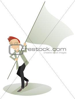 Waved banner
