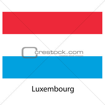 Flag  of the country  luxembourg. Vector illustration.