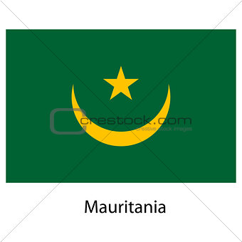 Flag  of the country  mauritania. Vector illustration.