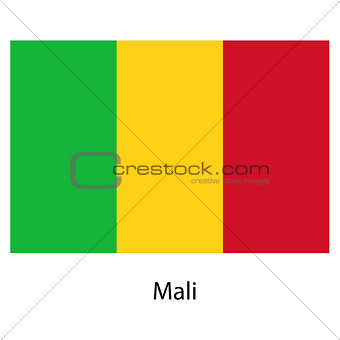 Flag  of the country  mali. Vector illustration.