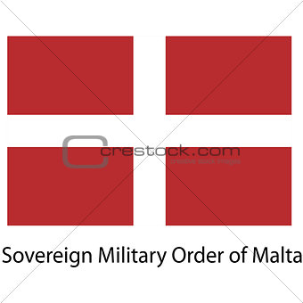 Flag  of the country sovereing military order of malta. Vector i
