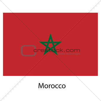 Flag  of the country  morocco. Vector illustration.