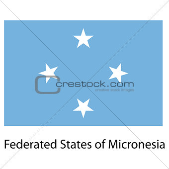 Flag  of the country federated states of micronesia. Vector illu