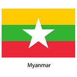 Flag  of the country  myanmar. Vector illustration.