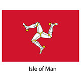 Flag  of the country  isle of man. Vector illustration.
