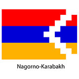 Flag  of the country  nagorno karabakh. Vector illustration.