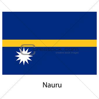 Flag  of the country  nauru. Vector illustration.