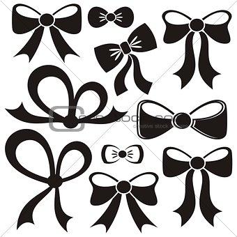 Black vector bows